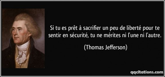 Liberte Ou Securite Citation Du Jour De Thomas Jefferson