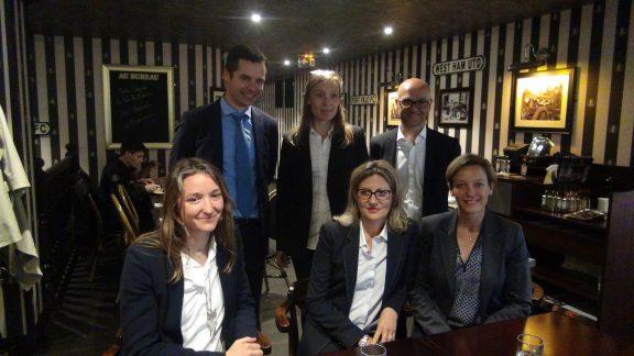 De gauche à droite. Laura Devin, Frédérique Lardet, Véronique Riotton Guillaume Gibouin, Marion Lenne, Xavier Roseren